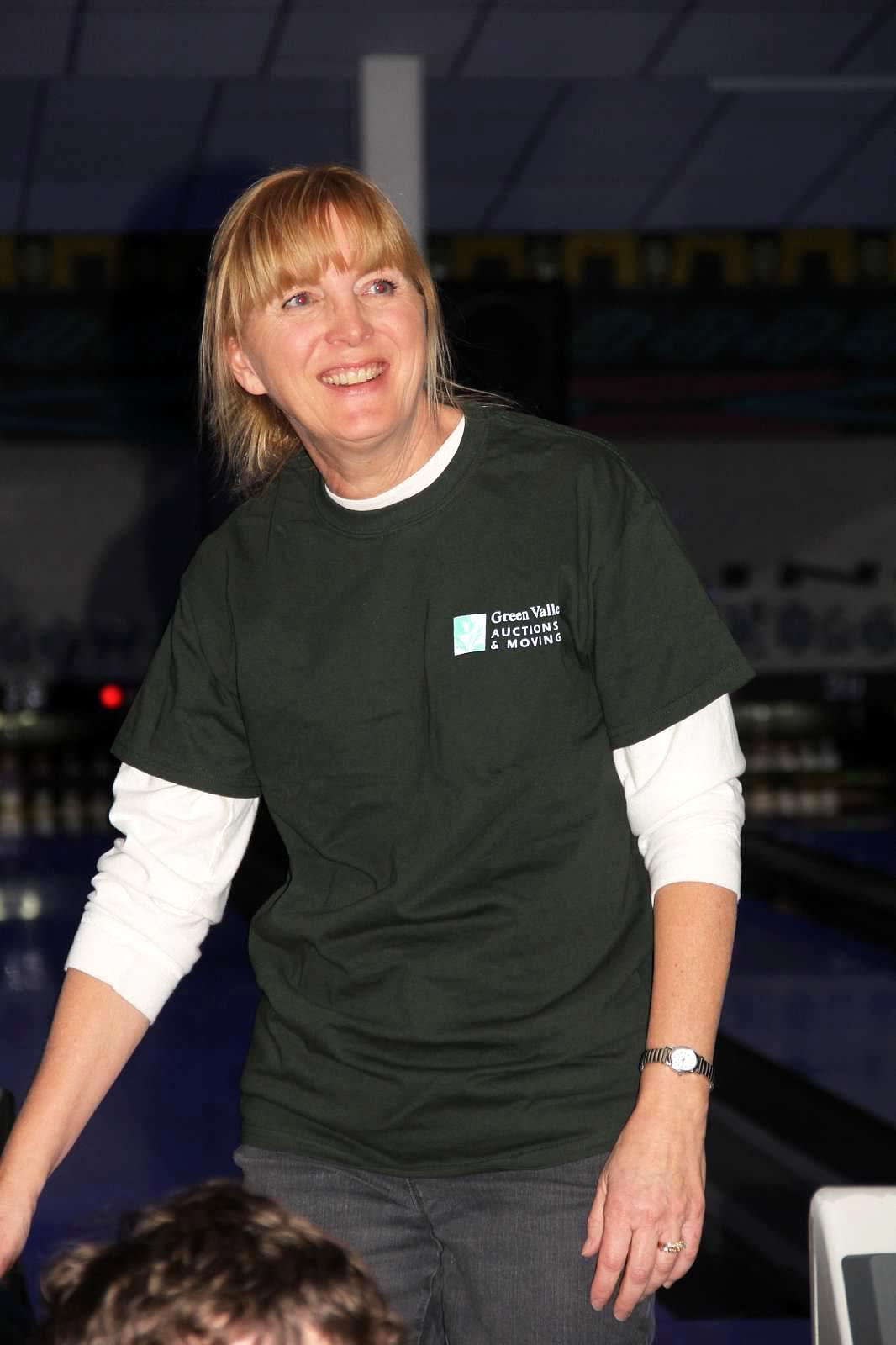 Green Valley bowler at Bowl For Kids' Sake