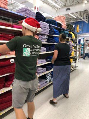 Sam & Priscilla shopping for Operation Christmas Child