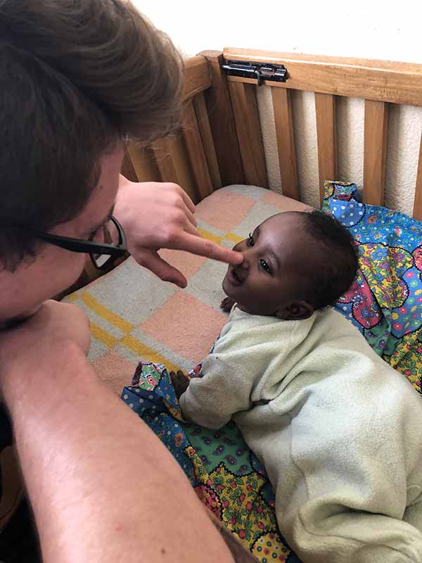 Scotty & baby from orphanage in Ethiopia