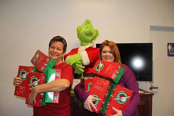 Sherri & Laura Operation Christmas Child